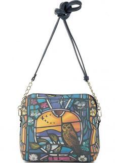 Кожаная сумка через плечо на молнии Curanni