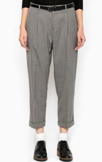 Укороченные брюки из шерсти и полиэстера с отворотами Maison Scotch