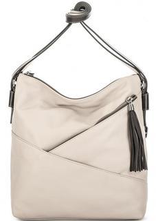 Кожаная сумка-рюкзак серого цвета Gianni Conti