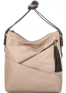 Кожаная сумка-рюкзак бежевого цвета Gianni Conti