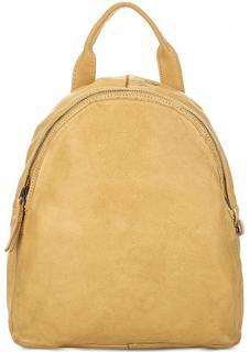 Желтый рюкзак из мягкой кожи Gianni Conti