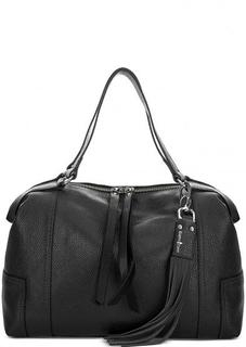 Кожаная сумка с одним отделом на молнии Gianni Conti