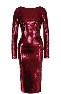 Платье-футляр с открытой спиной и пайетками Tom Ford