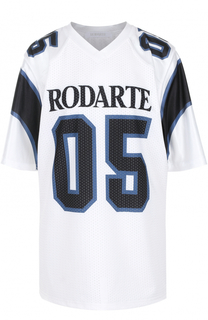 Футболка свободного кроя с принтом Rodarte
