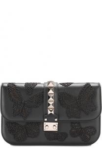 Сумка Glam Lock medium с вышивкой бисером Valentino