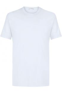 Хлопковая футболка с круглым вырезом James Perse
