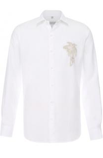 Льняная рубашка с отстегивающимся воротником Cortigiani