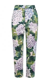 Укороченные брюки прямого кроя с цветочным принтом Dolce & Gabbana