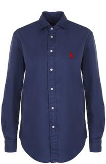 Блуза прямого кроя с логотипом бренда Polo Ralph Lauren