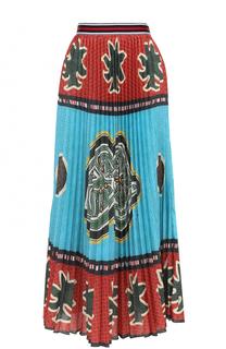 Плиссированная юбка-макси с принтом Stella Jean