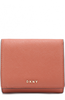 Кожаный кошелек с клапаном DKNY