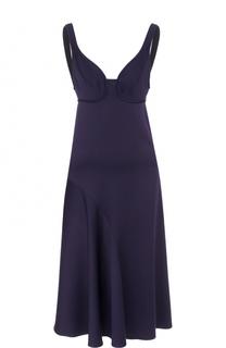 Приталенное платье-миди без рукавов Victoria Beckham