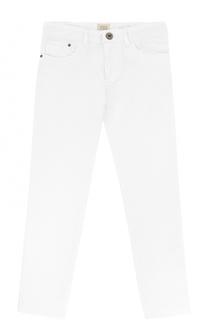 Однотонные джинсы из смеси хлопка и льна Giorgio Armani