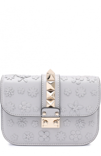 Сумка Glam Lock small с аппликацией в виде цветов Valentino