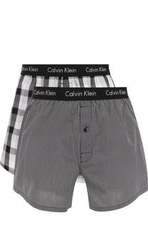 Комплект из двух хлопковых боксеров свободного кроя с широкой резинкой Calvin Klein