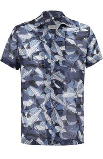 Хлопковая рубашка с короткими рукавами Cortigiani