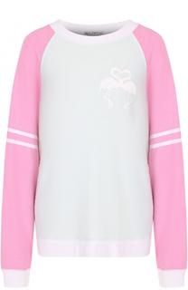 Пуловер свободного кроя с круглым вырезом Wildfox