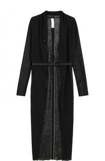 Льняное пальто-макси с поясом Isabel Benenato