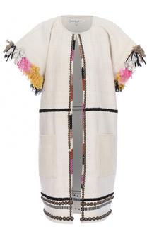 Пальто с укороченным рукавом и контрастной отделкой Apiece Apart