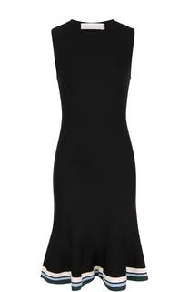Платье с юбкой-годе и контрастной отделкой Victoria by Victoria Beckham