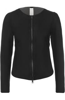 Кожаная куртка с круглым вырезом Isabel Benenato
