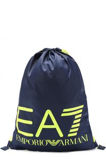 Текстильный рюкзак с логотипом бренда Ea 7