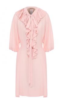 Платье свободного кроя с плиссированными оборками No. 21