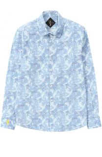 Хлопковая рубашка с принтом Billionaire