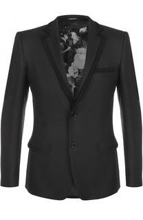 Шерстяной приталенный пиджак Alexander McQueen