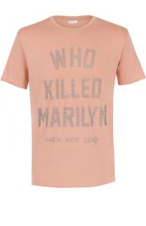 Хлопковая футболка с контрастной надписью Elevenparis
