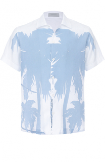 Льняная рубашка с короткими рукавами Cortigiani