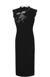 Платье-миди прямого кроя с вышивкой Maison Margiela