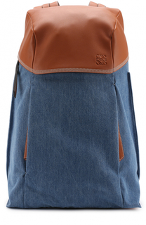 Текстильный рюкзак с отделкой из натуральной кожи Loewe