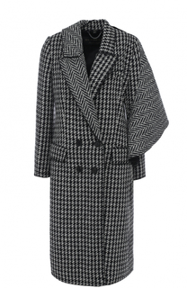 Двубортное пальто асимметричного кроя Burberry