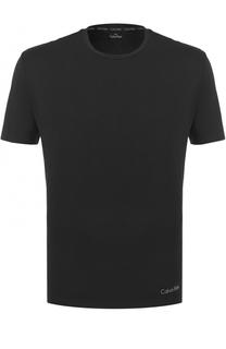 Хлопковая футболка с круглым вырезом Calvin Klein