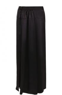 Шелковая юбка-макси с драпировкой Ann Demeulemeester
