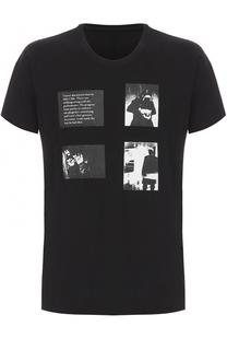 Хлопковая футболка свободного кроя с принтом Julius
