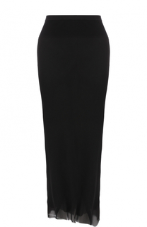 Шелковая юбка-миди асимметричного кроя Rick Owens
