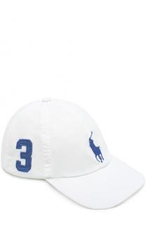 Бейсболка с нашивкой и логотипом бренда Polo Ralph Lauren