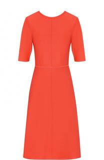 Приталенное платье-миди с открытой спиной Victoria by Victoria Beckham