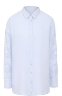 Льняная блуза свободного кроя 120% Lino