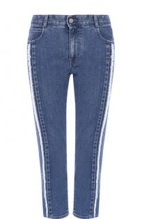 Укороченные джинсы с контрастной бахромой Stella McCartney