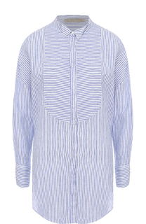 Льняная блуза в полоску 120% Lino
