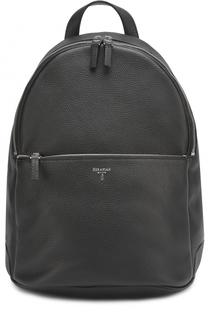 Кожаный рюкзак с внешним карманом на молнии Serapian