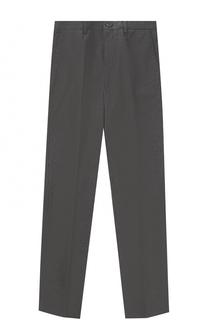 Хлопковые брюки прямого кроя с нашивкой Dolce & Gabbana