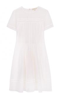 Хлопковое мини-платье с коротким рукавом MICHAEL Michael Kors