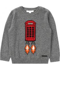 Кашемировый пуловер с принтом Burberry