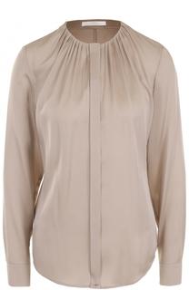 Блуза с круглым вырезом и драпировкой HUGO