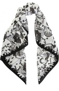 Шелковый платок с принтом Zadig&Voltaire Zadig&Voltaire