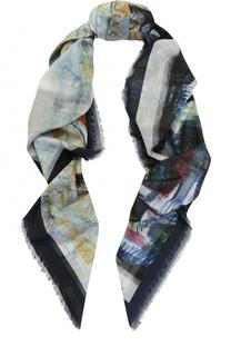 Хлопковый платок с принтом Burberry